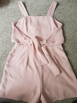 Girls pink playsuit from New Look age 12