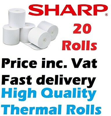 Sharp XE-A303 Cash register Paper Box 20 Paper Thermal Rolls