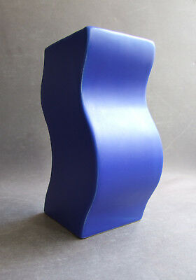 ASA Keramik Vase blau blue wave design midcentury vintage 1980s West Germany