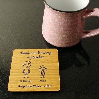 Personalised Teacher Gifts Thank You Leaving Nursery School Coaster Gift Present