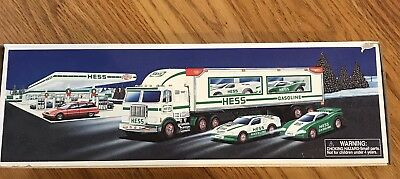 Hess 1997 Toy Truck And Racers, BRAND NEW IN ORIGINAL BOX !!!