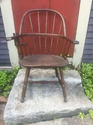 1800s DELAWARE Pennsylvania Original PAINT American Sack Back Windsor Armchair