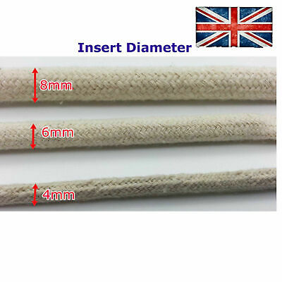 Cotton Cover Cable Wire Tube Sleeve Textile Fabric 4mm 6mm 8mm Protect Electric