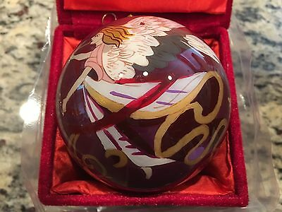 New - Avon Hand Painted Angel - Glass Christmas Ornament