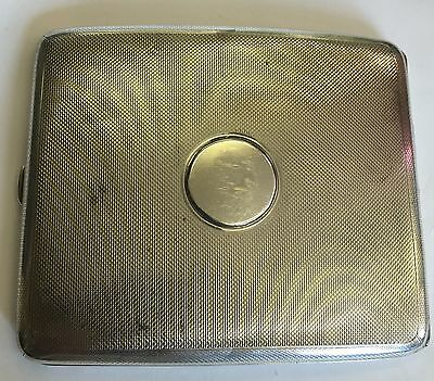 Antique Solid Silver Hallmarked Engine Turned Cigarette Case 125g S J Rose Son