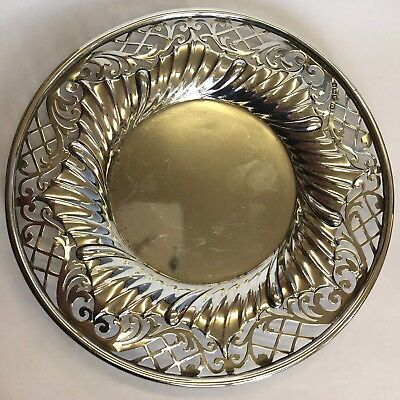 Antique Solid Silver Pierced  Dish Levesley Brothers 15cm 110.4g 1904