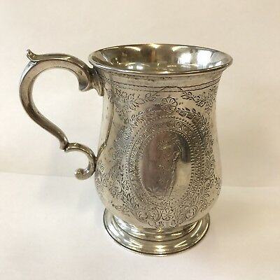 Antique Solid Silver Christening Tankard / Mug Stephen Smith 1867 11.5cm