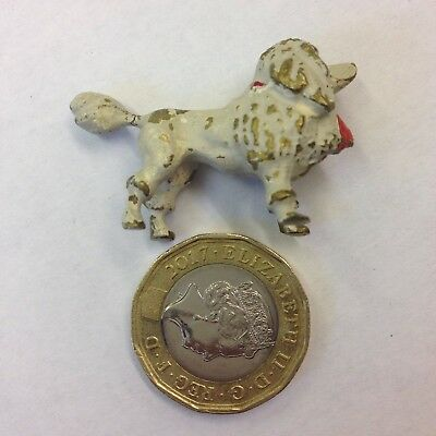 Miniature Cold Painted Bronze Figure White Poodle With Red Bow Probably Austrian