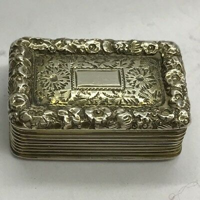 Fine Antique Georgian Solid Silver Vinaigrette Thomas Shaw 1827 Good Example