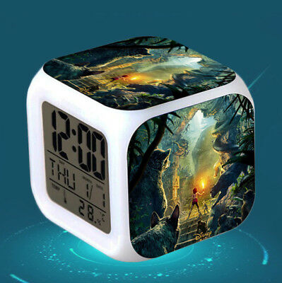The Jungle Book 7 Color Change Alarm Clock LED Digital Glowing Night Light