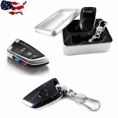 Carbon Fiber Pattern Key Chain FOB Case Shell For BMW X5 14-up, BMW X6 15-up