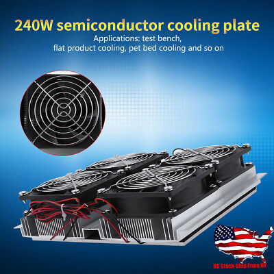 Semiconductor Refrigeration Radiator Thermoelectric Peltier Cold Plate Cooler US