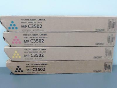 New Genuine RICOH SAVIN LANIER MP C3502 Print Cartridge Set