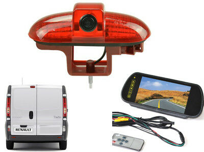 Oval Reversing Camera Kit and Mirror Monitor For Renault Trafic Van 2001 - 2014