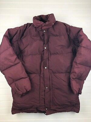 Vintage Woolrich burgundy puffy winter coat insulated