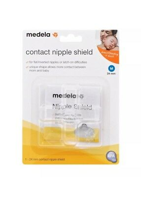 SEALED Medela Contact Nipple Shield Medium 24mm - Brand New Free Shipping