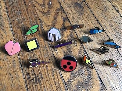 Lot of assorted Pokemon Badges pins from different generations