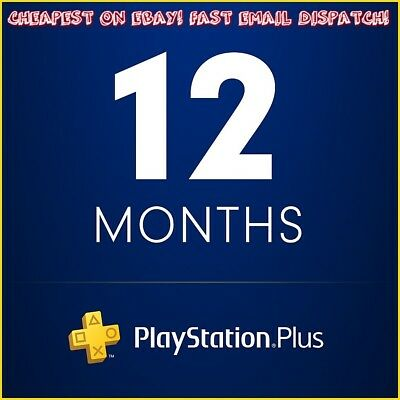 PSN Plus - 12 months - PlayStation Plus Subscription - 50% OFF CHEAPEST ON EBAY