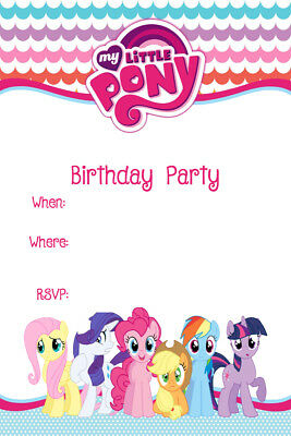 Personalized Birthday Party Thank You Card My Little Pony My