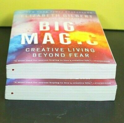 BIG MAGIC: Creative Living Beyond Fear by Elizabeth Gilbert (Paperback)  ^ NEW ^