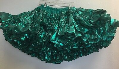 SQUARE DANCE PETTICOAT,  SHIMMERY GREEN Tag: Fashion Magic by Fendler Co,  M/L