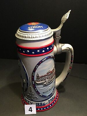 Stroh Brewing Statue of Liberty 1886-1986 Beer Stein Limited Edition #17473 (#4)