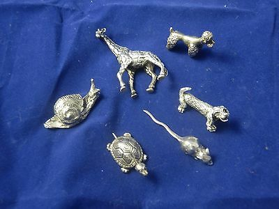 Miniature Animali real sterling  in Argento 800 made in Italy anni '60 Vintage