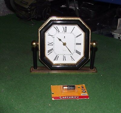 An Old Elite Quartz  Mantle Clock In Full Working Order Made In England  (273)