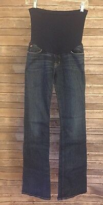 Hudson Maternity Over Belly Stretch Denim Blue Jeans Size 26 Bootcut