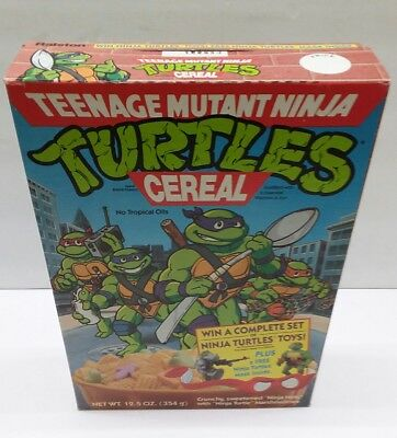 Vintage ©1990s Teenage Mutant Ninja Turtles empty  cereal box TMNT good old days