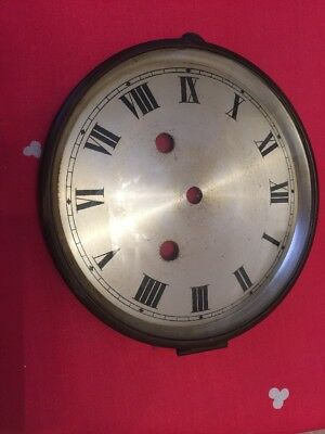 CLOCK DIAL & BEZEL with GLASS Spares Repairs  Parts Mantel Clock