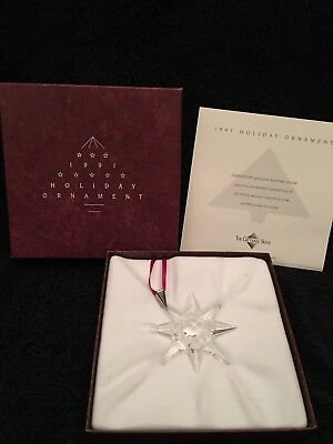 1991 Swarovski Crystal Christmas Ornament Star Snowflake Nib
