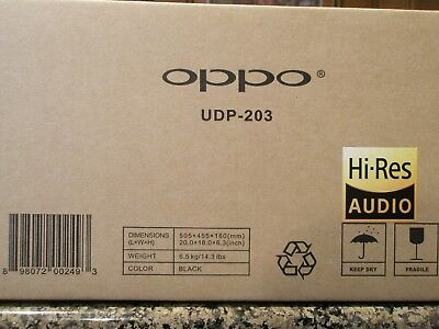 Oppo UDP-203 Blu-ray, 4K Ultra HD with Dolby Vision, NEW, UNOPENED, LAST ONE!