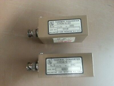 Thermal Conveters 6.0volts / 50 ohms