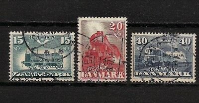 Denmark 1947, Danish State Railways, Full set SC# 301-3 (ref 5055)