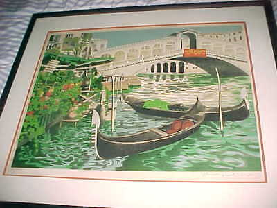 SGND & NUMBERED  80/375   -  VENICE CANAL Lithograph - PAUL DENIS NOYER