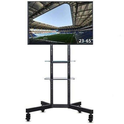 tv st nder trolley rollwagen standfu 37 70 zoll fn1021 silber schwarz eur 229 00 picclick de. Black Bedroom Furniture Sets. Home Design Ideas