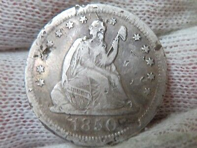 1850 O silver Seated Liberty Quarter... the ugliest seated quarter on Ebay