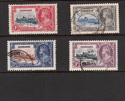 Barbados 1935 King George V Full Set Of Silver Jubilee Stamps To One Shilling