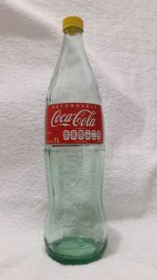 Mexican Rare Coca cola Emty Glass Bottle 1 Lt Mex - 33 oZ Us  From Mexico