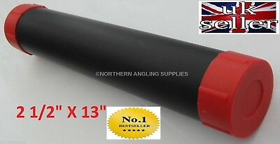 "1 X Large 13""  Plastic Fishing Float Tube With End Caps For Waggler Floats"