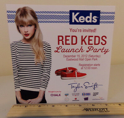 Taylor Swift / Keds / Glossy Slick / Counter Top Standee Promo