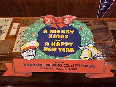 duquesne beer advertisment!! Original!! Xmas ad!! Duquesne beer company of Pitt.