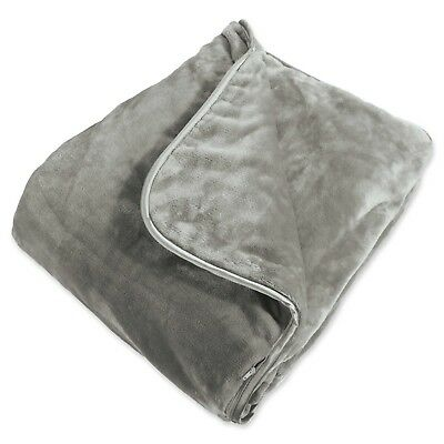 Brookstone NAP Weighted Blanket in Grey/GRAY ~ Super Soft ~ Calming & Relaxing