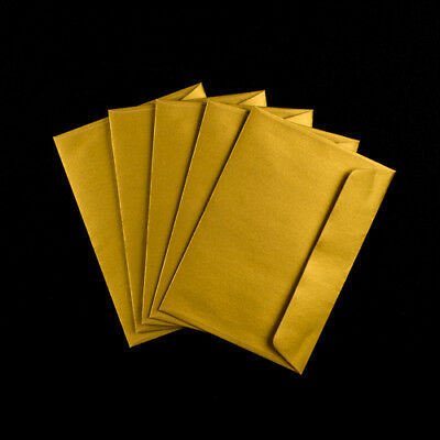 Premier C5 162x229mm Envelopes for Greeting Cards Metallic Gold Peel & Seal x 50
