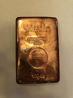 100 Oz Copper Bar - Geiger