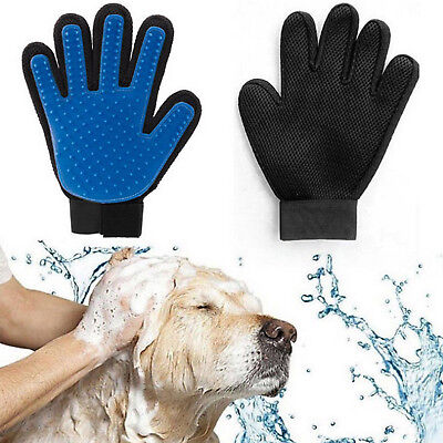 Silicone Brush Magic Glove Pet Dog Cat Massage Hair Removal Grooming Groomer New