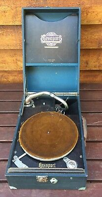 Vintage Rexoport Prismaphonic Gramophone Record Player 21.077 Made in 1929