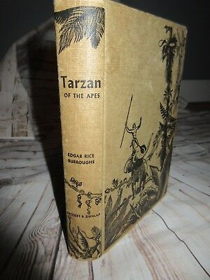 Vintage 1914 Tarzan of the Apes by Edgar Rice Burroughs, Hardcover Grosset Brown