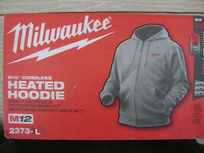 Milwaukee 2373 M12 Xl Gray Heated Hoodie Kit